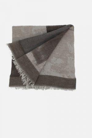 Foulard marrone in lana e modal Savile Castagna