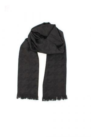 Sciarpa nera elegante con jacquard pied de poule Palmyra Black