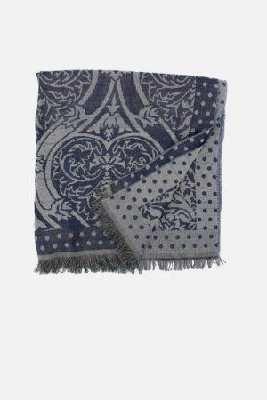 Stola azzurra con lurex Amleto