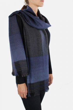Stola di lana Safir one azzurra