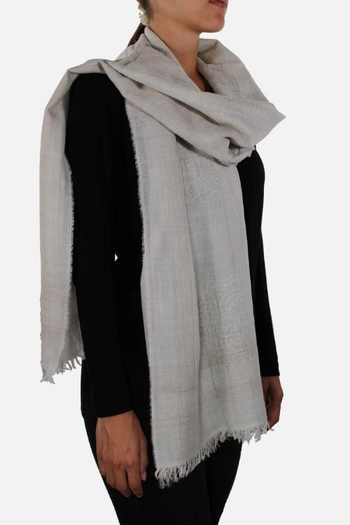 Stola di lana con lurex Aline Beige