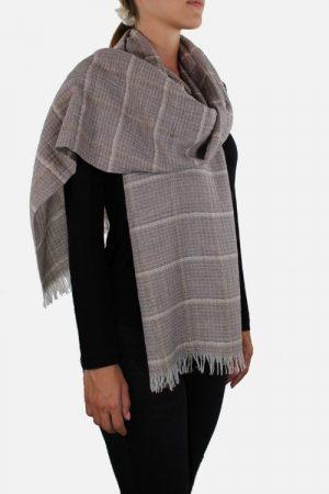 Stola di lana con lurex