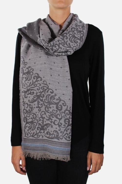 Stola donna in lana modal Jade Grey Little