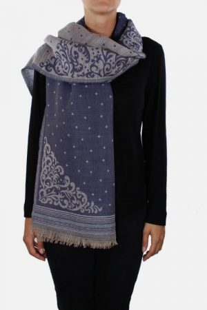 Stola donna in lana modal Jade azzurro