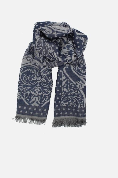 Stola elegante azzurra Amleto lurex