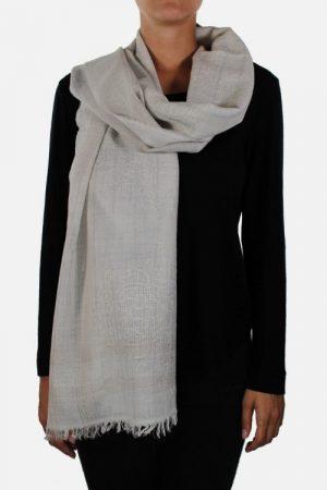 Stola in lana con lurex Aline Beige